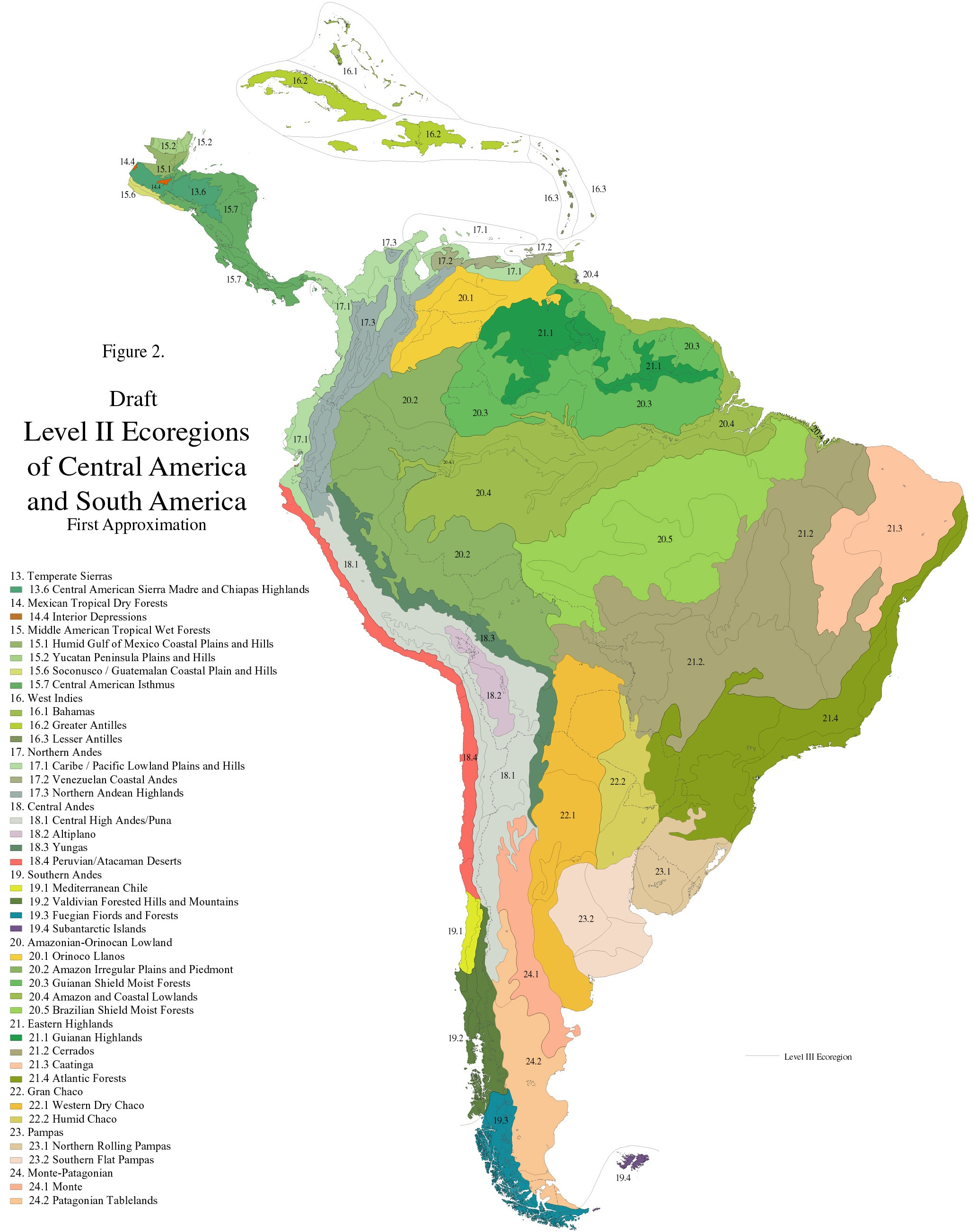 maps of south america and american countries political inside