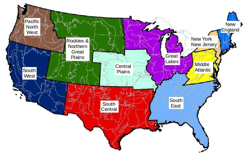 Us Map Central Plains Level III and IV Ecoregions of the Continental United States Level III